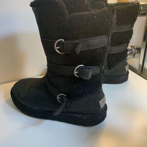UGG Shoes | Black Short Leather Buckle-Waterproof